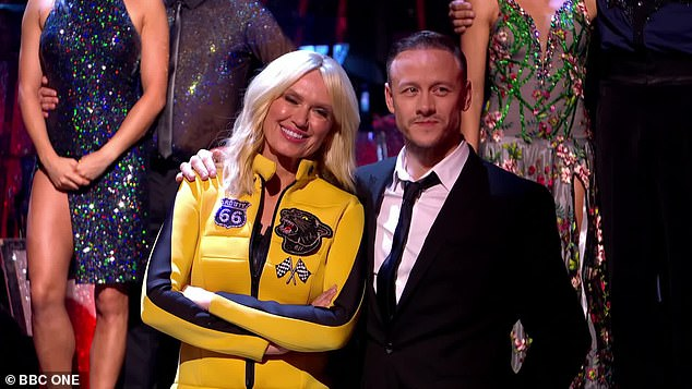 Reaching out:Kevin Clifton has thanked celebrity partner Anneka Rice following their elimination from the current series of Strictly Come Dancing