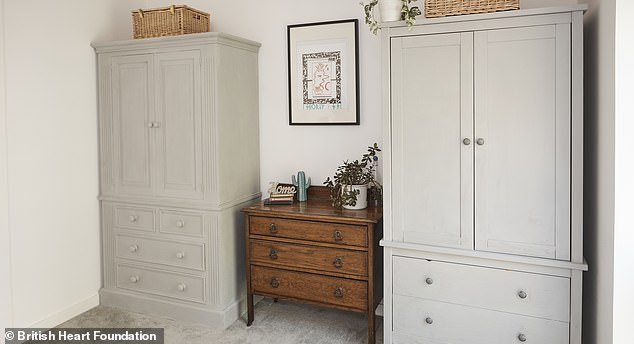 'Giving furniture a new lease of life is so important - not only in saving good quality items from landfill but also helping fund much needed research' Lynne added. Pictured: Bedroom 4 after