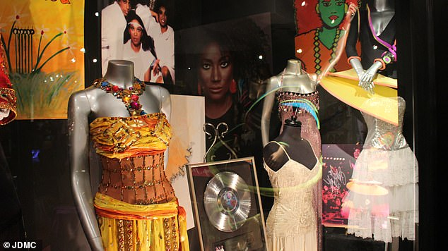 Working on the display, featuring hundreds of costumes and memorabilia pieces, has been a key factor in her recovery along with three years of therapy, she said