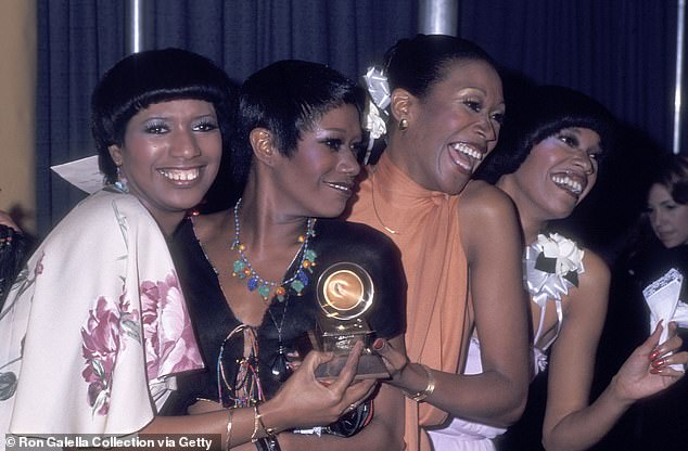 The Pointer Sisters June, Bonnie, Ruth and Anita attend the 18th Annual Grammy Awards on February 28, 1976
