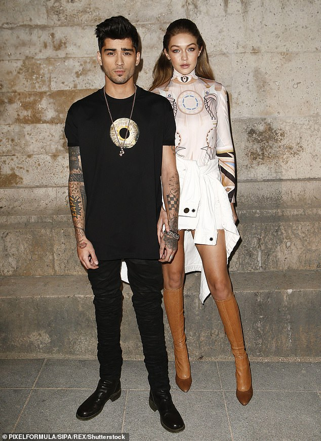 Rocker beau: Tyler was Gigi's first boyfriend since her January split from her One Direction alum Zayn Malik, 26, in January after their on-off, three-year affair