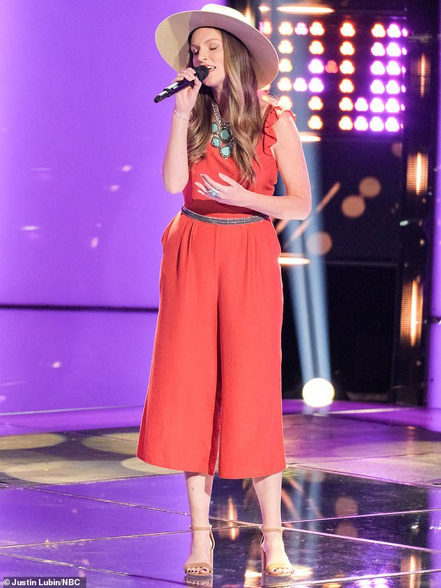 Small town: Brooke Stephenson, 28, from small-town Bolton, Connecticut wowed the judges with Patty Griffin's Let Him Fly
