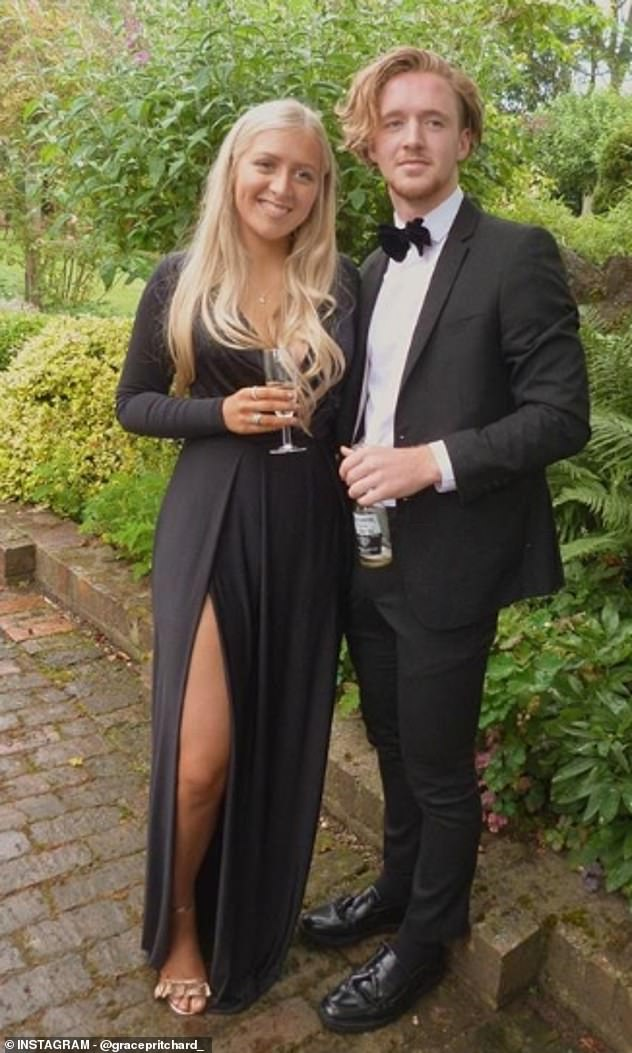 Miss Pritchard, pictured with her boyfriend,Nat, 20, had chest pains while on holiday in Marbella. She visited her GP when she came back