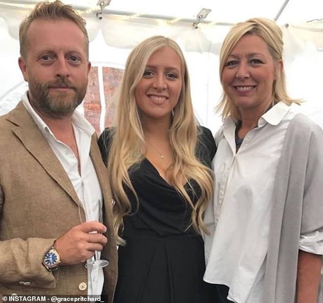 Miss Pritchard, pictured with her parents,Jo, 49, and Steve, 51, said: 'It's the worst thing me or my family have ever been through'