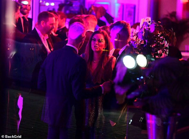 Face to face: The couple at the Professional Cricketers' Association bash in London last week