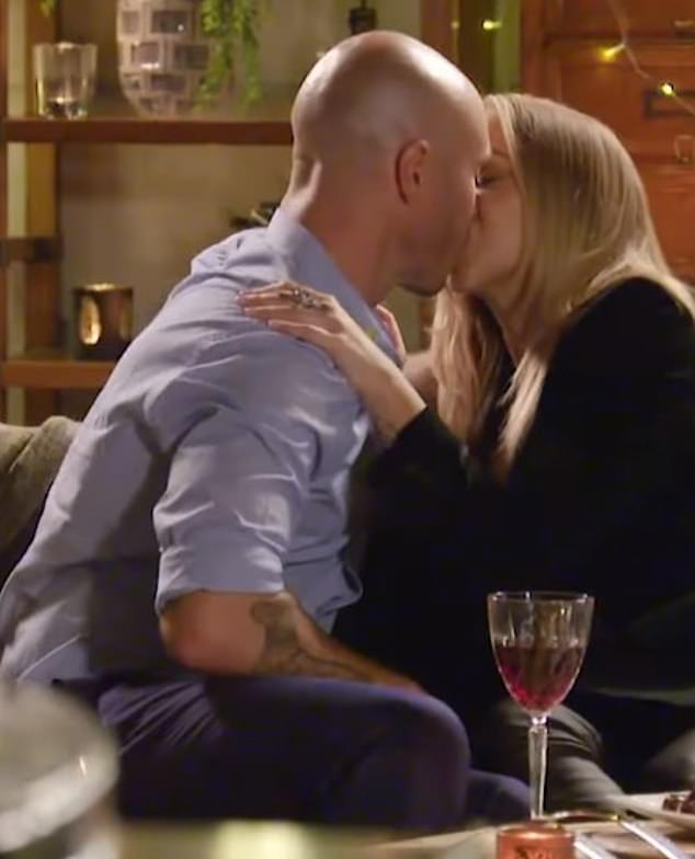 Isn't he meant to be a secret? Oddly, the network later included a blink-and-you-miss-it clip of Angie kissing Ryan on a date in a three minute trailer teasing the whole series on Sunday night