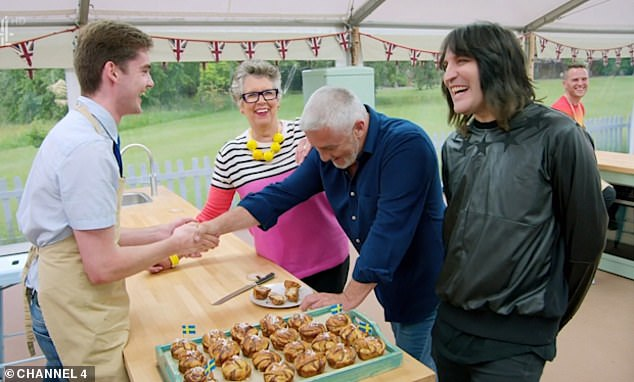 The Great British Bake Off left viewers in hysterics tonight after the show's popular Henry Bird, 20, from Durham, told Paul Hollywood to 'shut up' after receiving a handshake