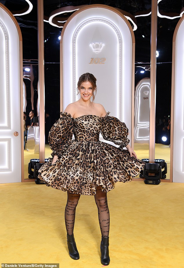 Barbara Palvin, 26, continued to put her best foot forward for the Italian fashion brand on Tuesday evening, when she stepped out in style for the Calzedonia Leg Show, which took place in Verona.
