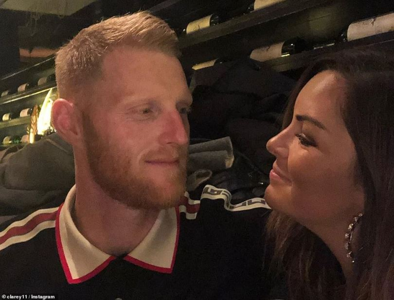 So in love: The couple celebrating Clare's 30th birthday days after the cricket award ceremony
