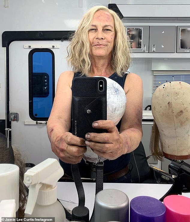 First day:Jamie Lee Curtis is back on set to portray her iconic character Laurie Strode in the highly-anticipated sequel Halloween Kills