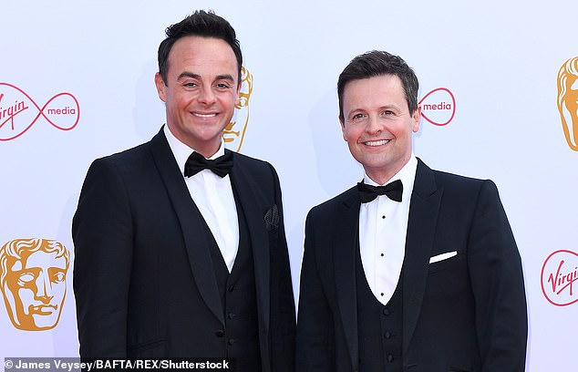 AntMcPartlin and Declan Donnelly at this year's Bafta TV awards. The diversity rules will be fully introduced in 2021