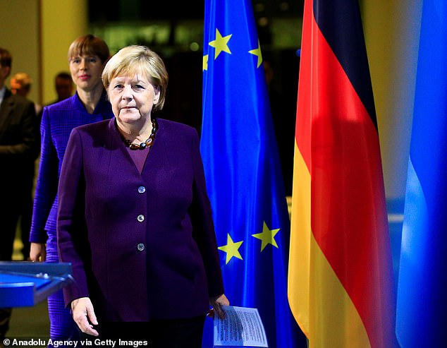 Downing Street accused German Chancellor Angela Merkel (pictured) of torpedoing a deal with her 'comments', which have not been confirmed by Govenrment sources