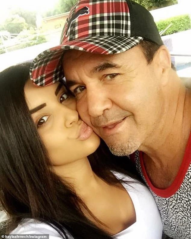 Kayla Fenech has been at her dad Jeff's hospital bedside in Thailand since Tuesday
