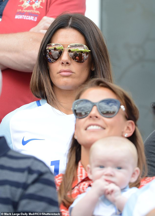Shocker: Following Coleen Rooney's accusations that Rebekah Vardy has been planting false stories about her life, the Internet was awash with hilarious and shocking memes (the WAGs pictured together in 2017)