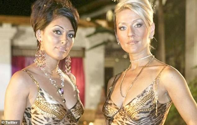 Happy days!Fans soon took to Twitter to share a number of memes, with many likening the feud to a storyline from hit noughties TV show Footballer's Wives (Pictured: Tanya Turner, played by Zoe Lucker, and Laila Rouass' character Amber Gates)