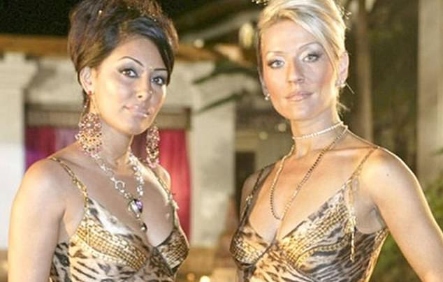 Fracas: The drama is reminiscent of iconic TV show, Footballer's Wives, which starred Zoe Lucker and Laila Rouass (left)