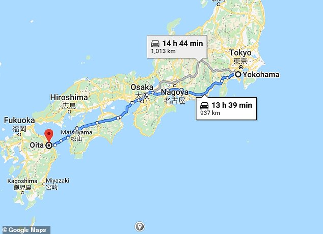 RWC chiefs wanted to try to relocate the game to Oita, 500 miles away from Yokohama