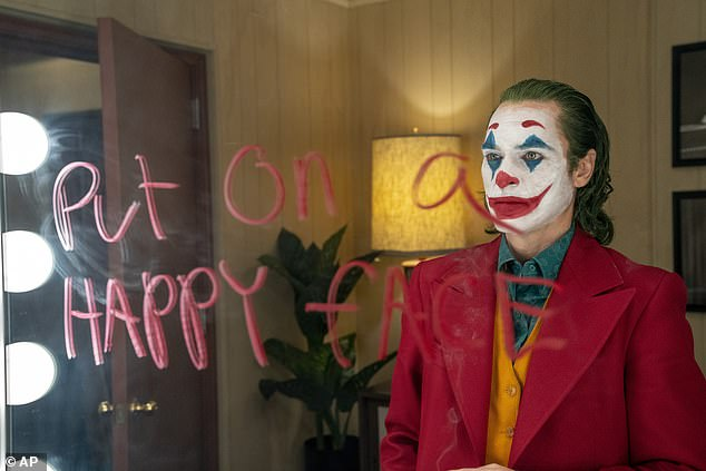 The US Army and FBI issued warnings of potential mass shootings at screenings of the film Joker - starring Joaquin Phoenix (pictured) - based on social media posts by people who refer to themselves as 'incels'