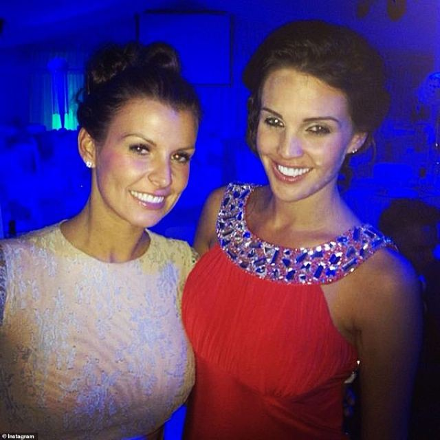 Friends:Danielle, another fellow Liverpudlian, used to be married to footballer Jamie O'Hara, and is one of the followers on Coleen's private account (pictured in 2014)