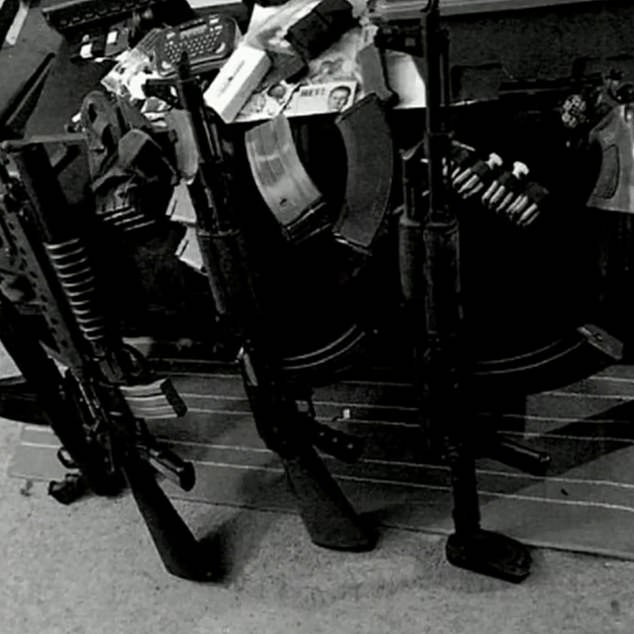 The man, who has not been named, had posted a number of photos of weapons on Twitter
