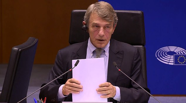 David Sassoli revealed he held talks with Mr Bercow in London last night, telling MEPs they were on the 'same wavelength'