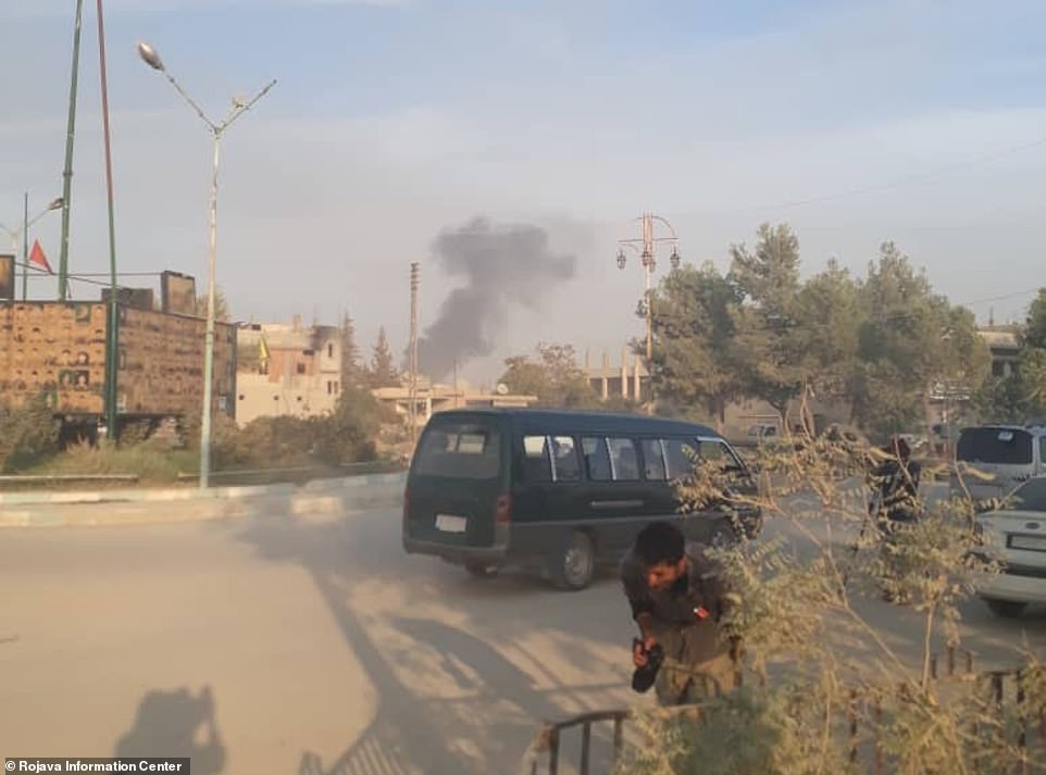 Video footage showed civilians fleeing as smoke rose from bombs dropped by Turkish warplanes. Kurds living in the area reported that some civilians were injured in the attacks