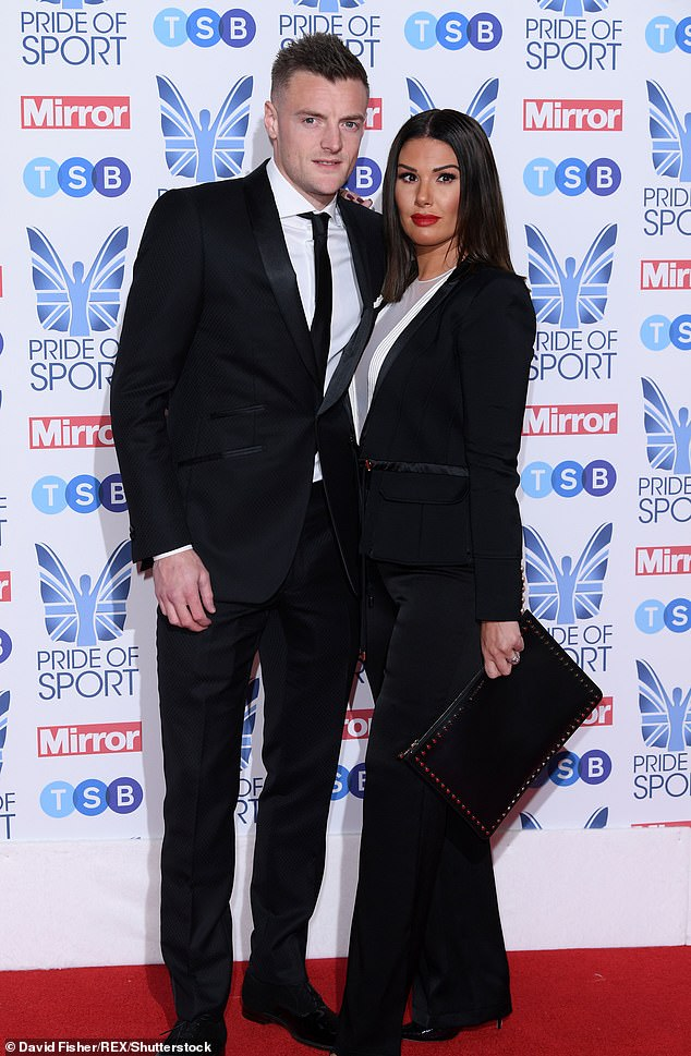 The couple married in 2016 at luxurious Peckforton Castle in Cheshire although many of Jamie's close family didn't attend the nuptials, with Rebekah blamed for causing a rift between Jamie and his mother Lisa and stepfather Phil (Pictured at the Pride of Sport Awards, London, 2018)