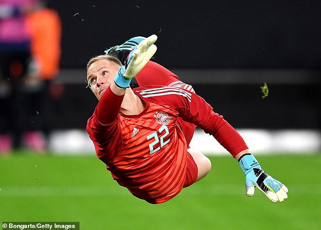 Marc-Andre ter Stegen was beaten by De Paul's shot but his right post came to his rescue