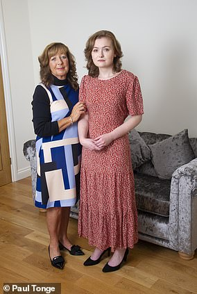 Debbie Roscoe, 57, and her daughter Ellie, 24. Ellie almost died from measles last year because Debbie chose for Ellie not to have the full MMR jabs as a child