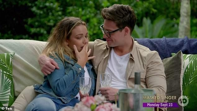 Vulnerable moment: Producers didn't find out about Abbie's abortion until she discreetly told Matt Agnew (right) about it in a 'whisper'. This prompted a crew member to tell her, 'Abbie, you're going to have to say it out loud'