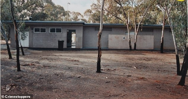 The now 38-year-old mother is accused of murdering her child in 1995 after it was found inside a toilet block in Kambalda Caravan Park (pictured)