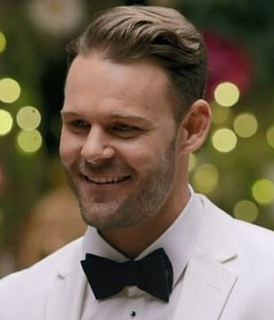 Sounds like a winner? Fans are convinced Carlin Sterritt (pictured) wins Angie Kent's heart on The Bachelorette based on the music that played in the background during his introduction