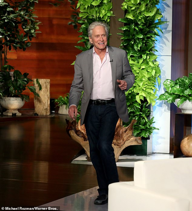 Sneak peek! Two-time Oscar winner Michael Douglas chatted about getting older and his daredevil teenage son Dylan in Thursday's episode of The Ellen DeGeneres Show