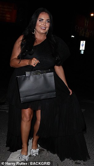 Back in black: Scarlett Moffatt what to do with the Virgin Atlantic Attitude Awards at London's Roundhouse