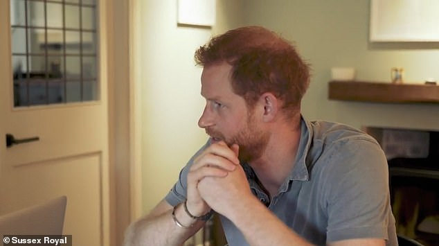 Prince Harry revealed a further look at one of the rooms in Princess Eugenie's stylish home in a second video posted today
