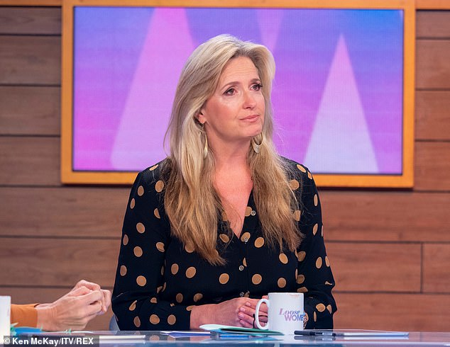 "Brave: Penny Lancaster burst into tears as she talked about husband Rod Stewart's fight with an ""aggressive"" form of prostate cancer Thursday following Loose Women's episode"