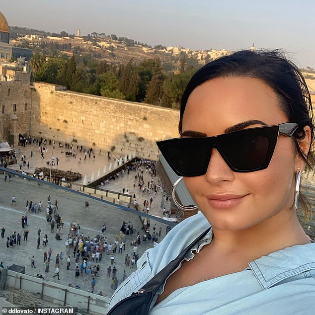 Trials and tribulations: In July 2018, the Sober singer (pictured last week in Jerusalem) was found unconscious in her Hollywood home. She was hospitalized for almost two weeks before checking into a treatment center