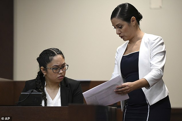 On Wednesday Magbuana took the stand denied involvement in the plot and pointed the finger at Charlie Adelson.When asked: 'Do you think Charlie Adelson was involved in this? And that he was lying to you?' she replied 'Yes'