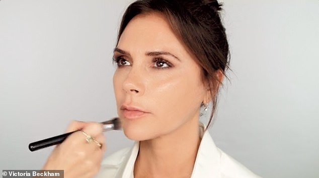 What a thing to say! Victoria Beckham jokes Harper, 8, likens her to Mrs Doubtfire and revealed husband David never sees her with her make-up on in a funny new YouTube video