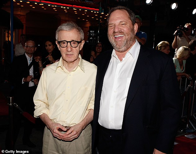 Wood-vey: Days before the expose dropped, Weinstein even called Farrow's estranged father Woody Allen (above in 2008), who said: 'Jeez, I'm so sorry. Good luck'