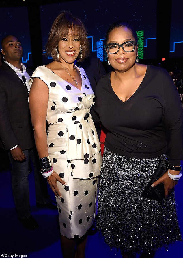 Still pals: Oprah told Gayle 'I had a number in my head when I was going to die' but not what the number was; they are pictured together in 2016