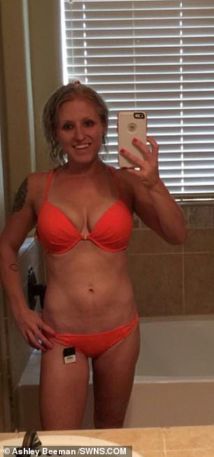 Ashley said she was swept up in the addiction after her weight dropped from 165lbs to 128lbs while she was taking the drug
