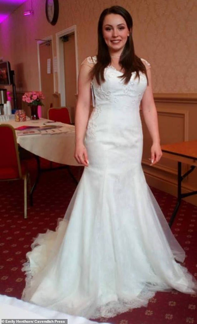 Emily Henthorn (pictured in a wedding dress shortly before her death in May this year) had harboured hopes of moving into a house with Mr Hardman and settling down with him