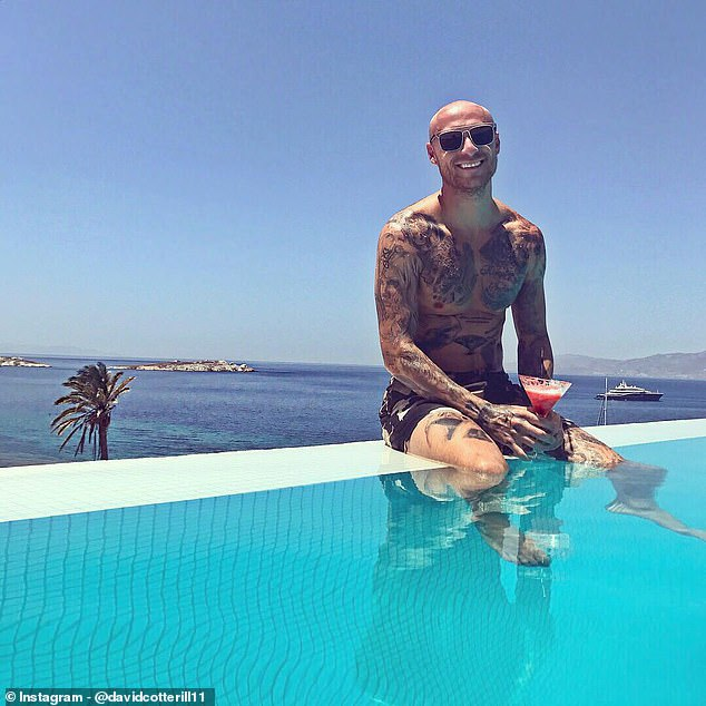 Pictures posted on the ex-professional's Instagram also show holidays in Mykonos and Paris