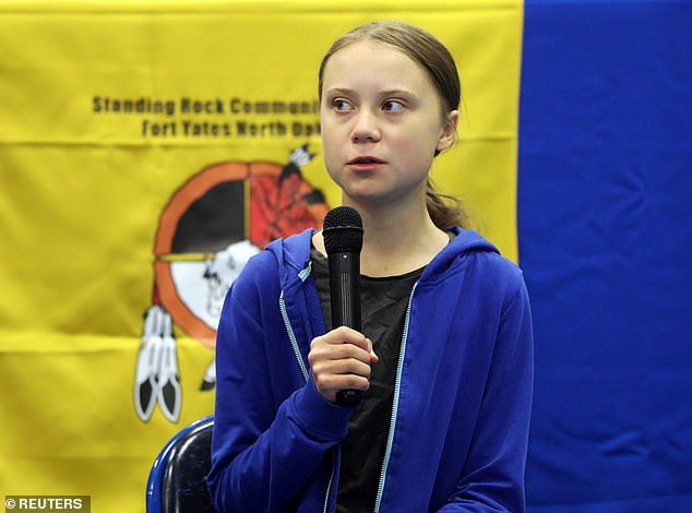 Fonda claimed to have been inspired to act by Greta Thunberg, a young activist from Sweden