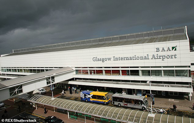 The suspect had been arrested after flying from Paris to Glasgow Airport
