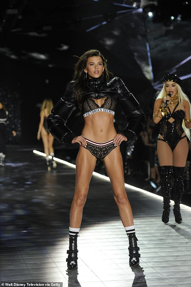 'It was always a dream growing up to be a part of it': Georgia Fowler admitted she's 'disappointed' the Victoria's Secret Fashion Show isn't going ahead this year... and voiced her support for diversity on the runway (pictured in the show last year)