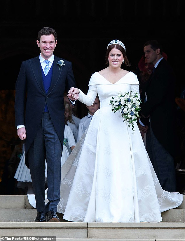It has been exactly one year since Princess Eugenie's fairytale wedding to Jack Brooksbank in St George's Chapel at Windsor Castle