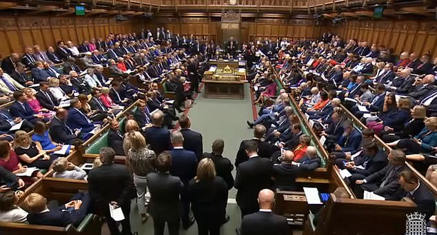 The sitting (file image) would be the first Saturday session since the start of the Falklands War in 1982 and just the fourth in 80 years.Parliament would run around the clock for seven days a week if the vote is passed as Mr Johnson tries to force a deal through both Houses before deadline day on October 31