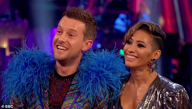 Improving: The comedian gave it his all with the fast-paced routine, and despite a few mistakes, earned plenty of praise from Motsi Mabuse, with a score of 26 points out of 40